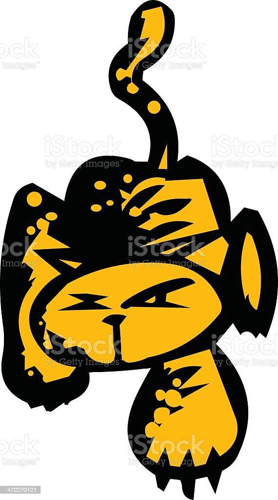 Cat Stalker royalty-free stock vector art