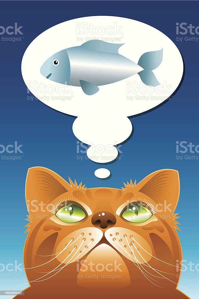 Cat the dreamer royalty-free stock vector art