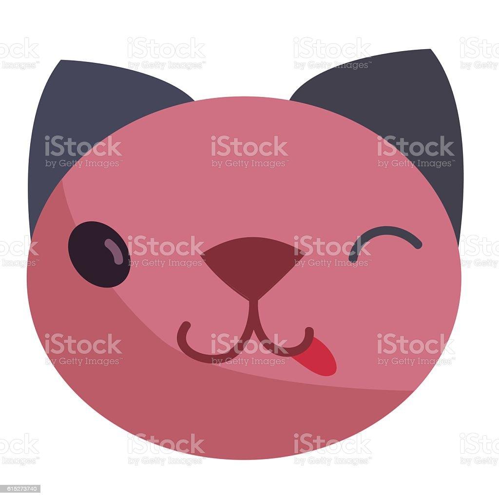 Cat tongue vector art illustration