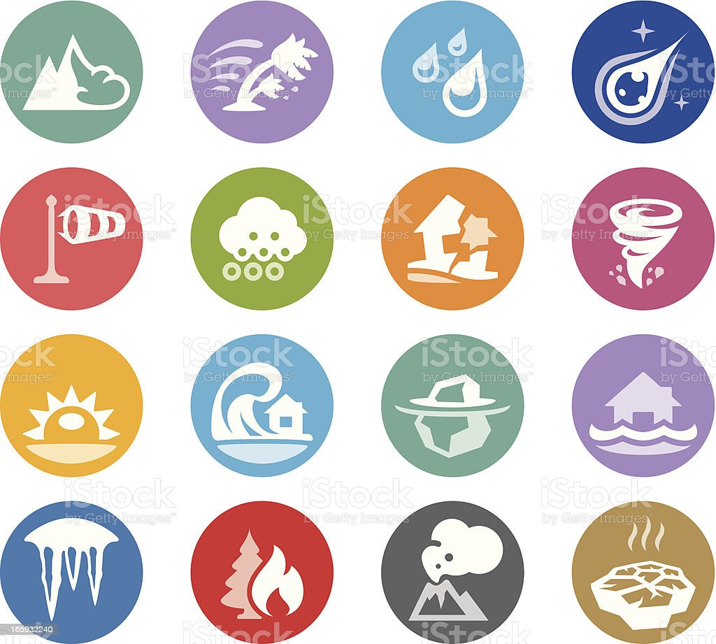 Cataclysm and Disaster / Wheelico icons royalty-free stock vector art