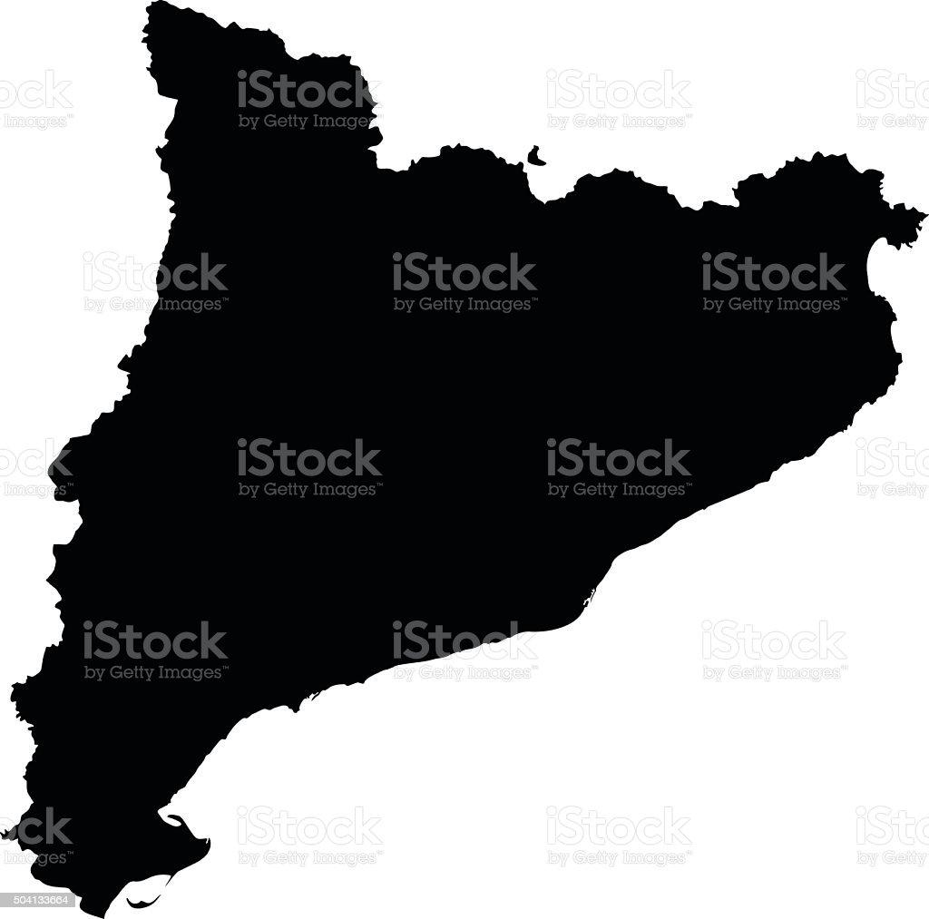 Catalonia map on white background vector vector art illustration