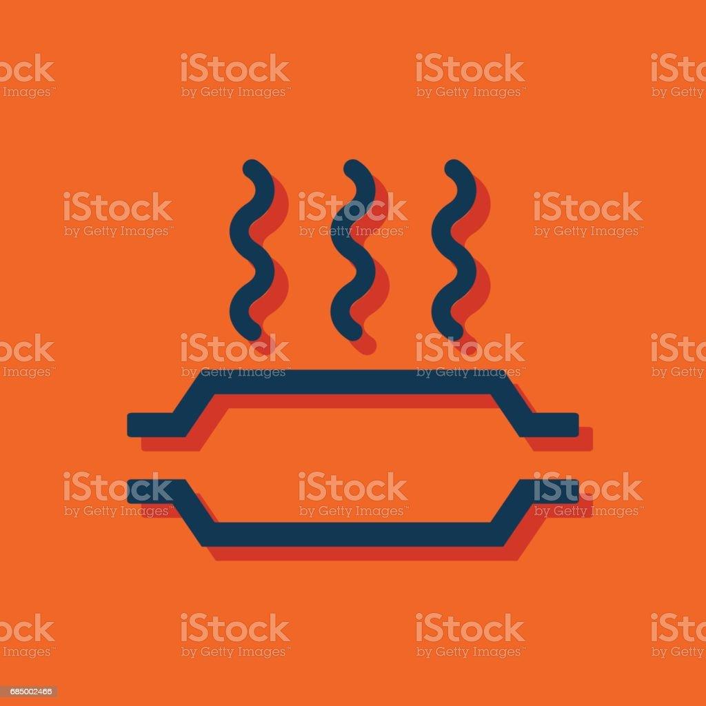 Catalytic converter overheat warning vector hmi dashboard flat icon vector art illustration