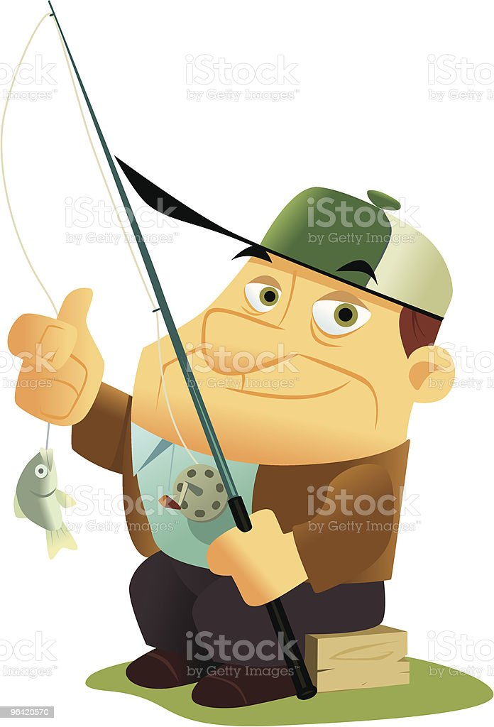 Catch and Release vector art illustration
