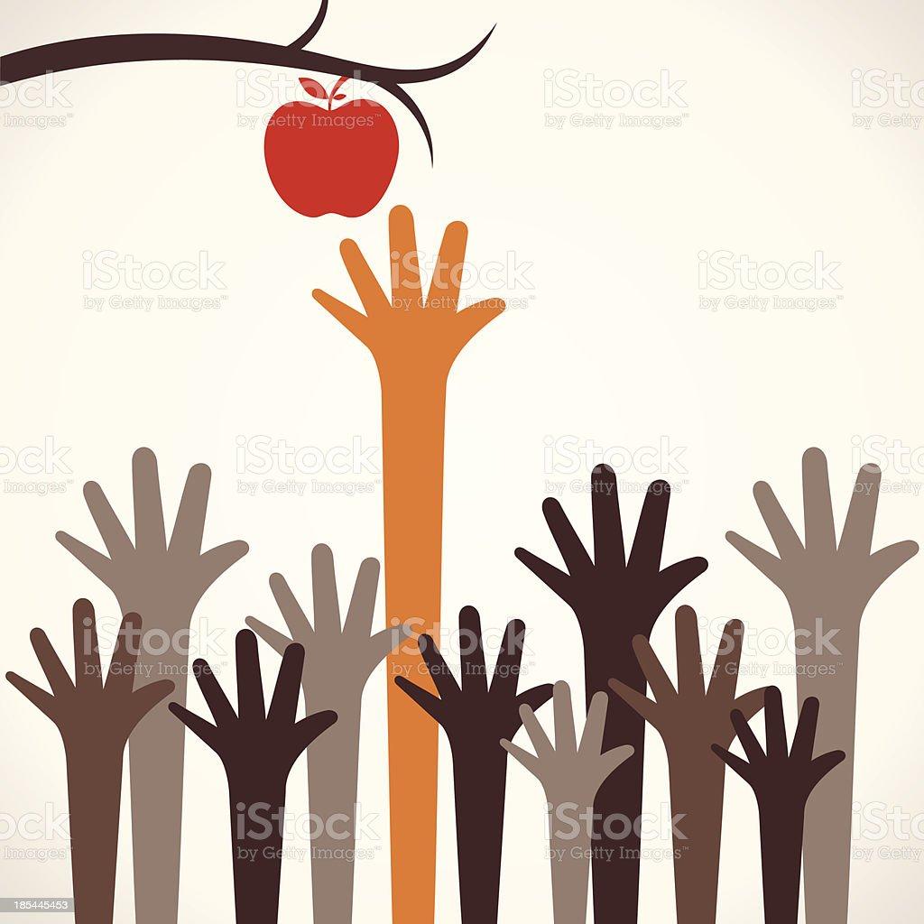 catch apple royalty-free stock vector art