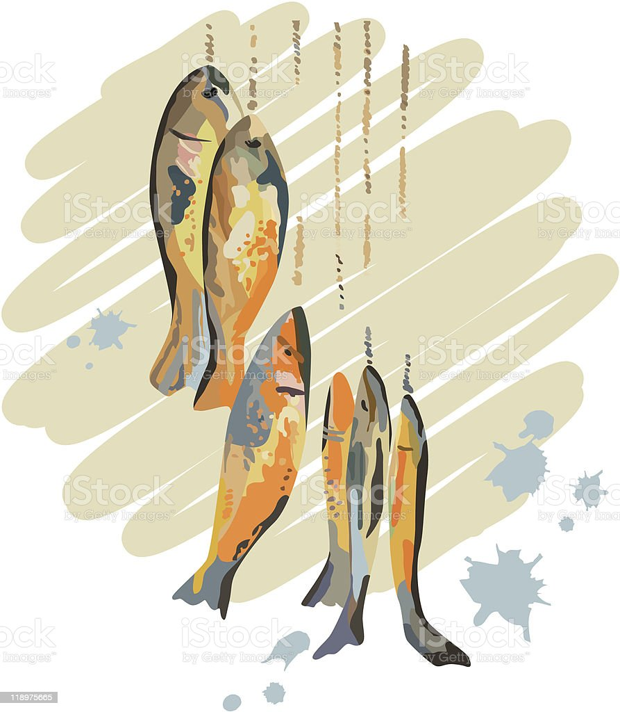 Catch of Fish royalty-free stock vector art