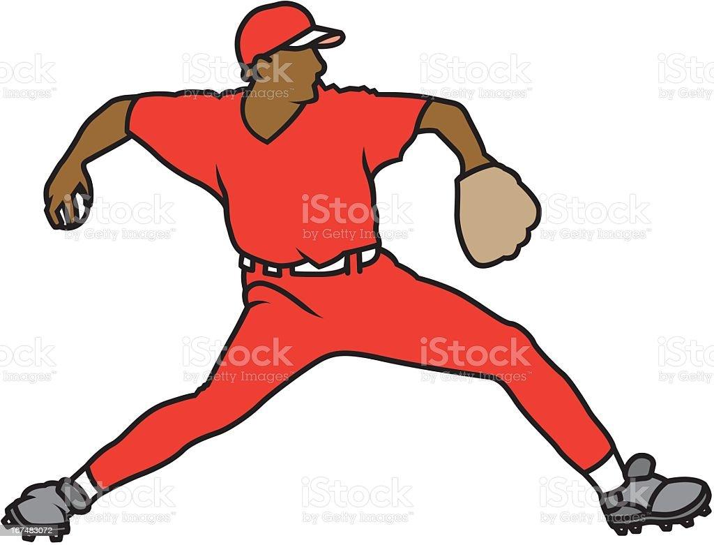 Catcher Throwing Baseball royalty-free stock vector art