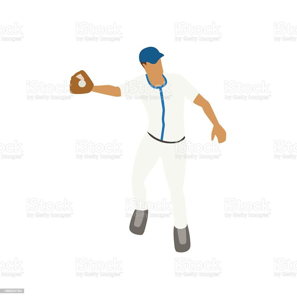 Catching baseball illustration vector art illustration