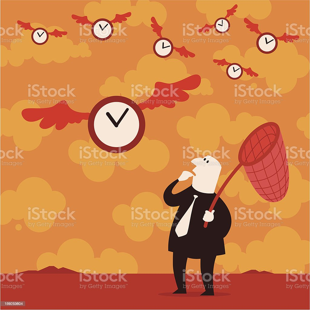 Catching time royalty-free stock vector art