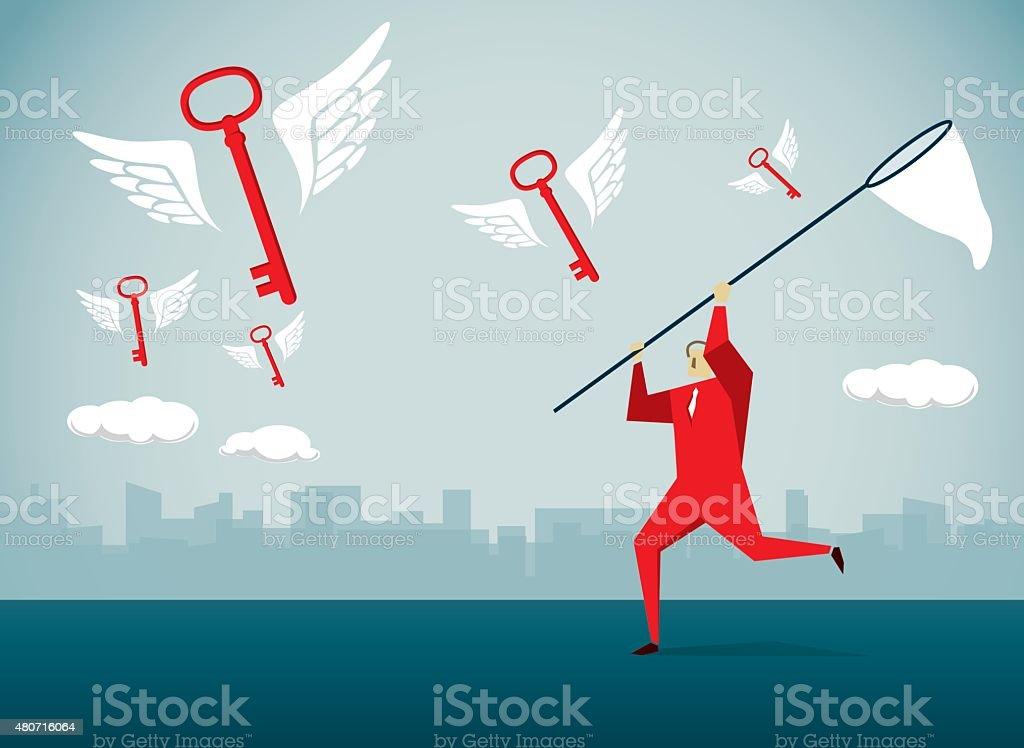 Catching vector art illustration
