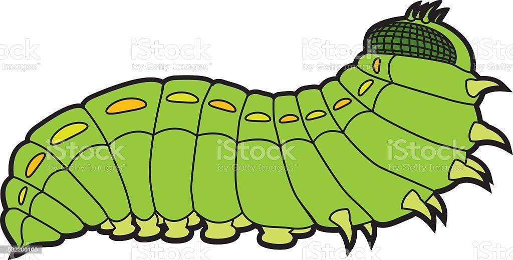 caterpillar butterfly vector art illustration