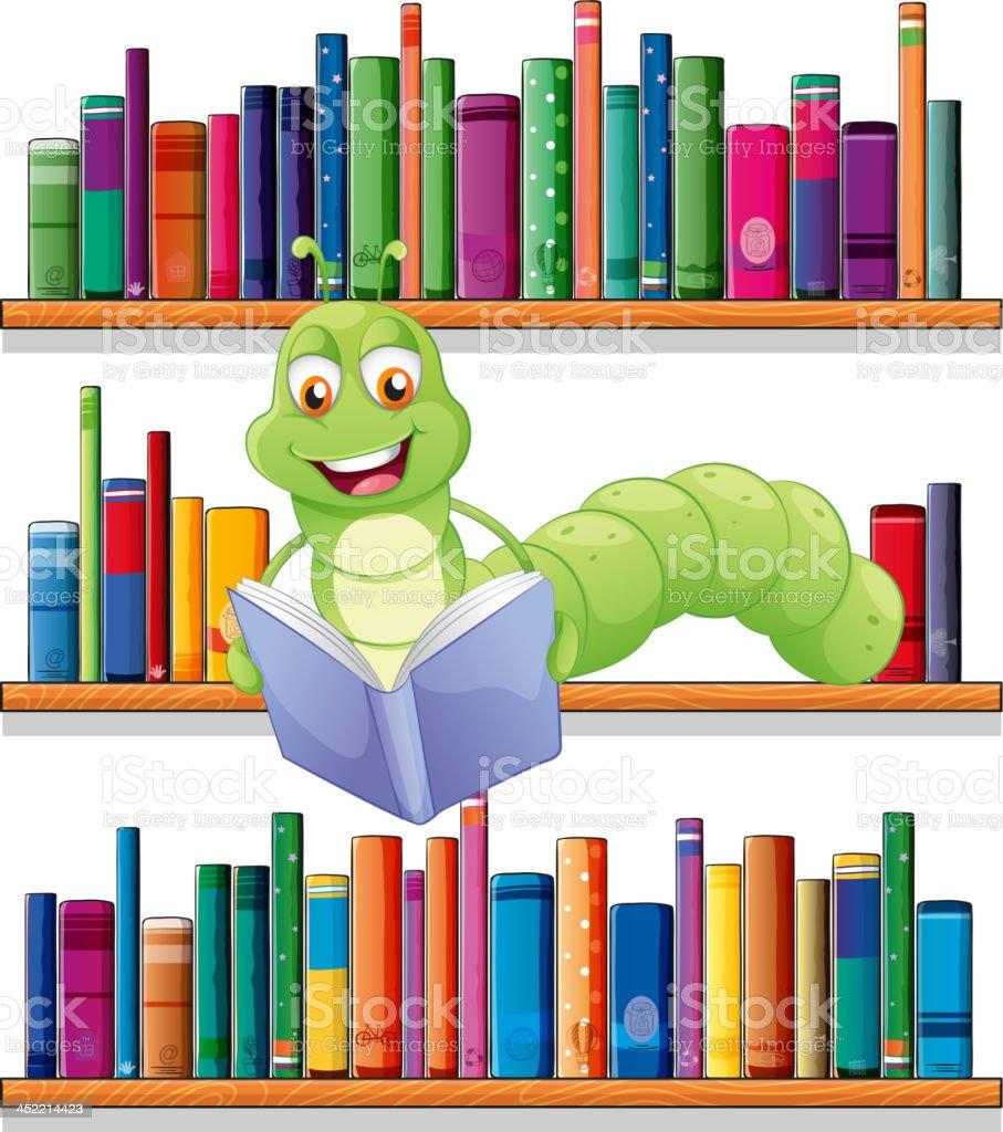 caterpillar reading a book royalty-free stock vector art