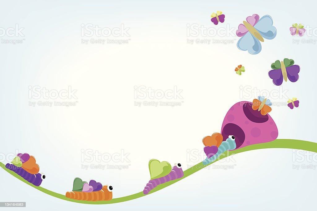Caterpillars Background royalty-free stock vector art