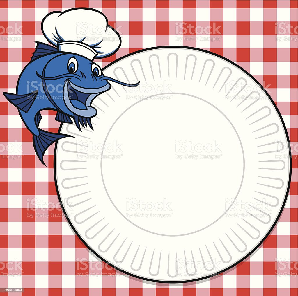 Catfish Cookout Invite vector art illustration