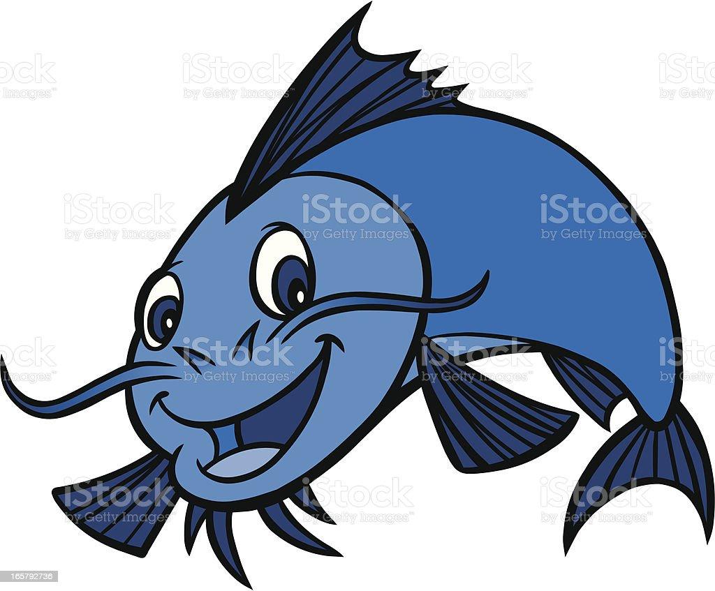 Catfish Dinner vector art illustration