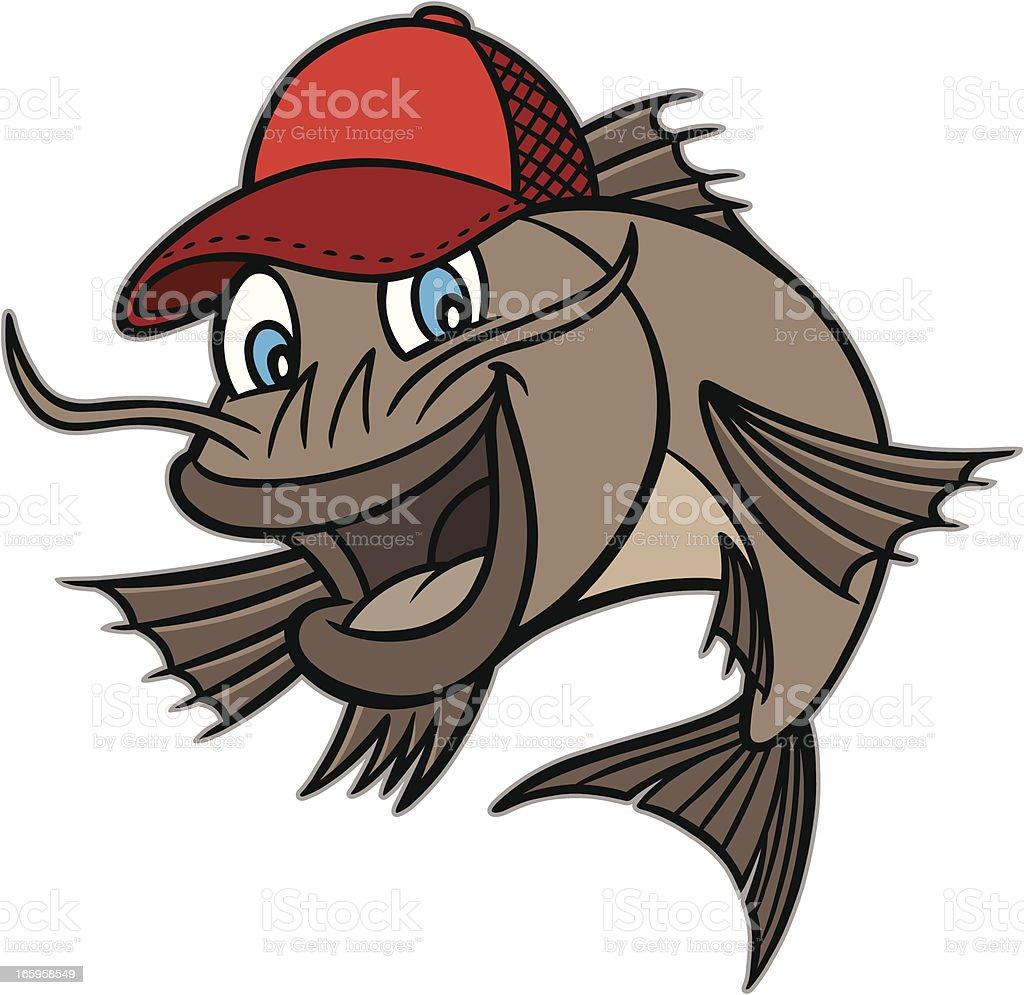 Catfish Mascot vector art illustration