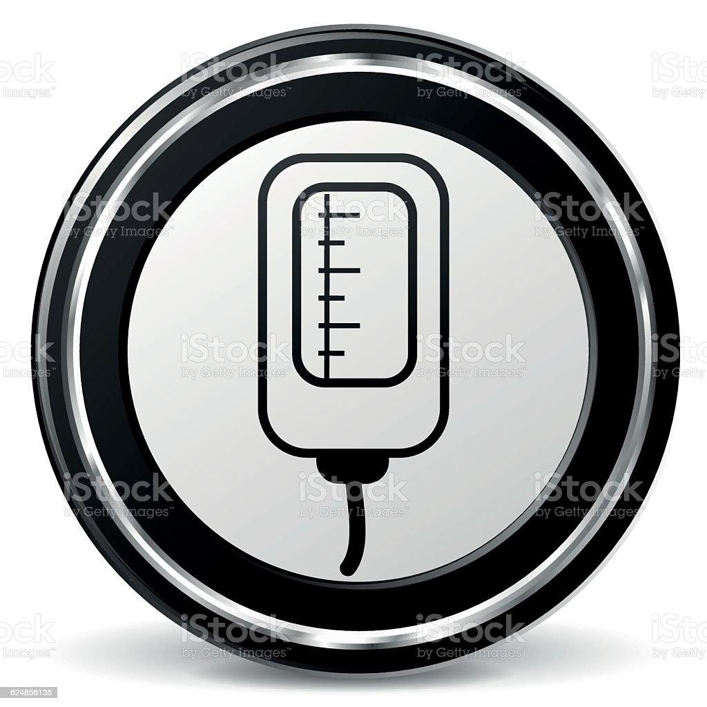 catheter black and gray icon vector art illustration