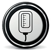catheter black and gray icon
