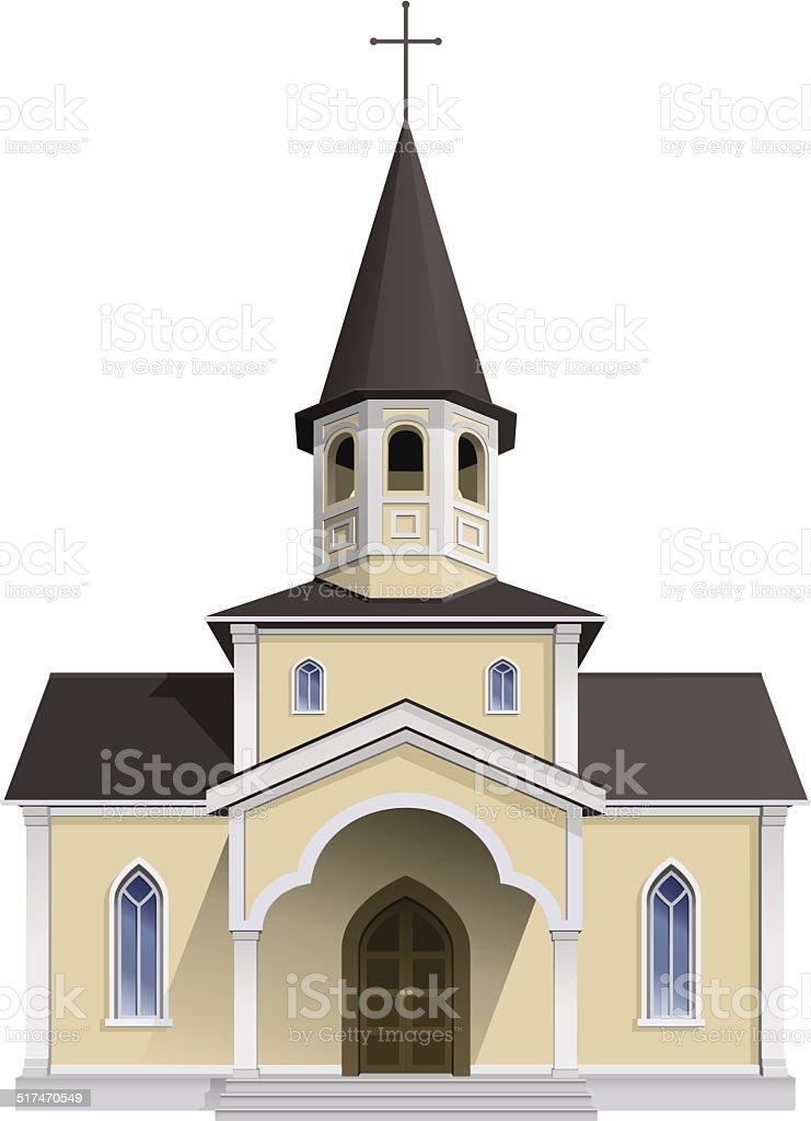 Catholic chapel vector art illustration
