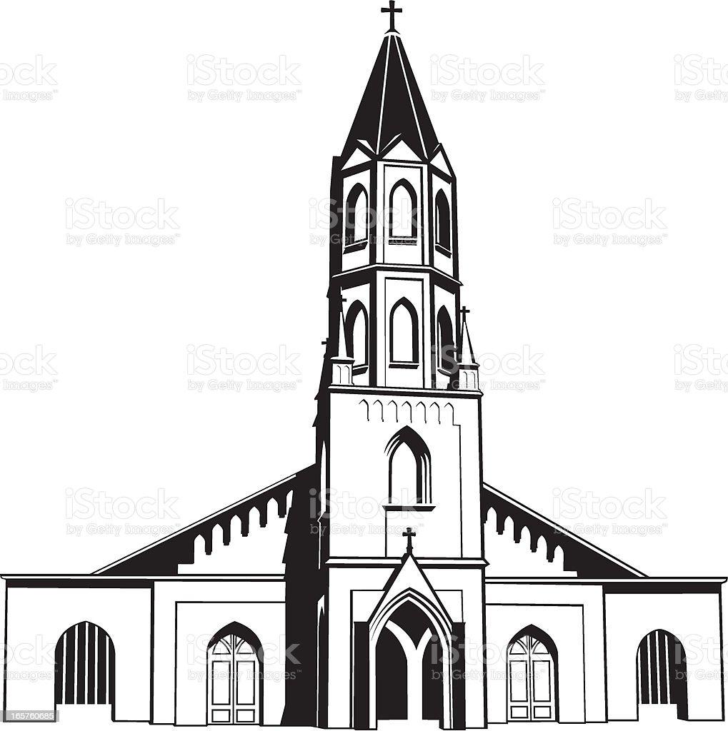 Catholic Church royalty-free stock vector art