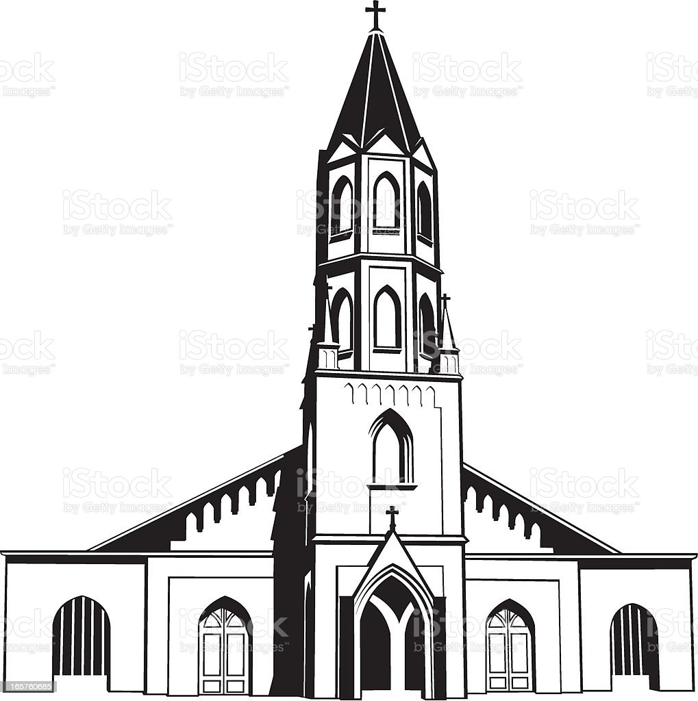 Catholic Church vector art illustration