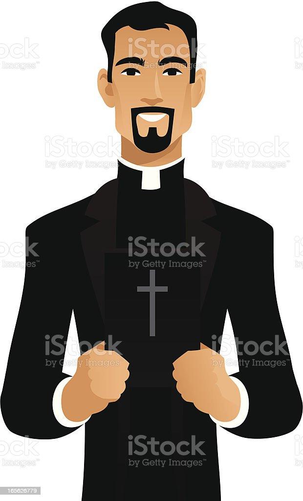 Catholic Priest royalty-free stock vector art