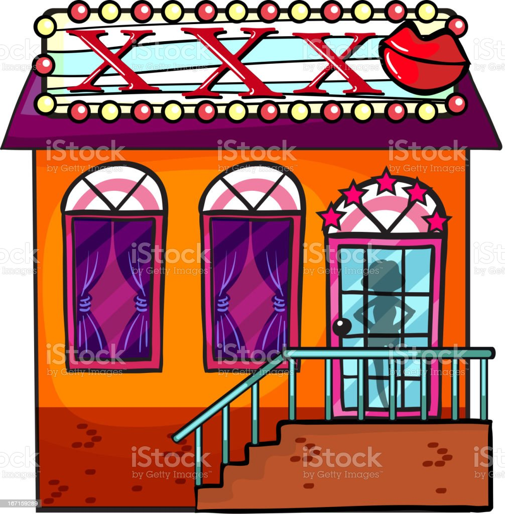 Cathouse royalty-free stock vector art