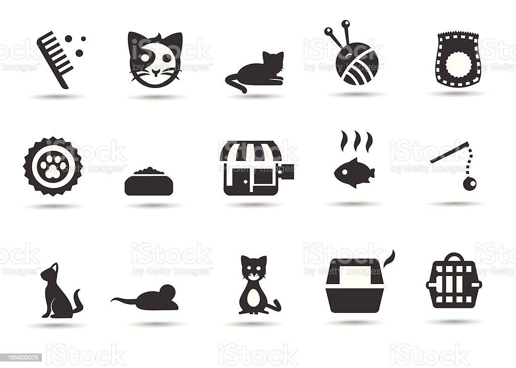 Cats and Kitten Icons vector art illustration