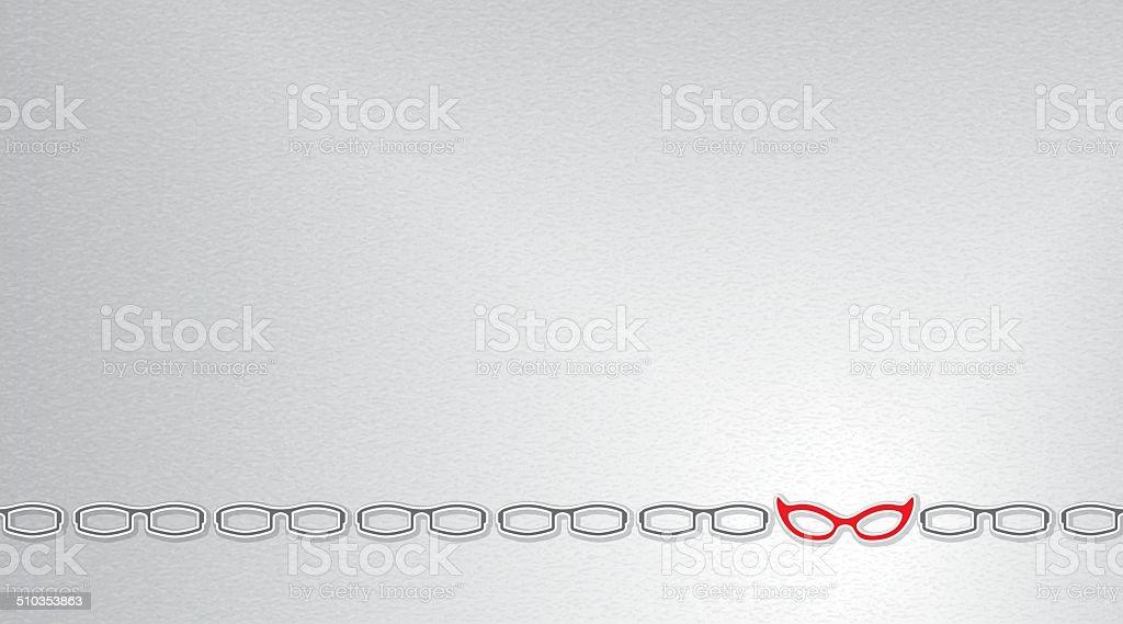 Cat's Eye Glasses Background vector art illustration