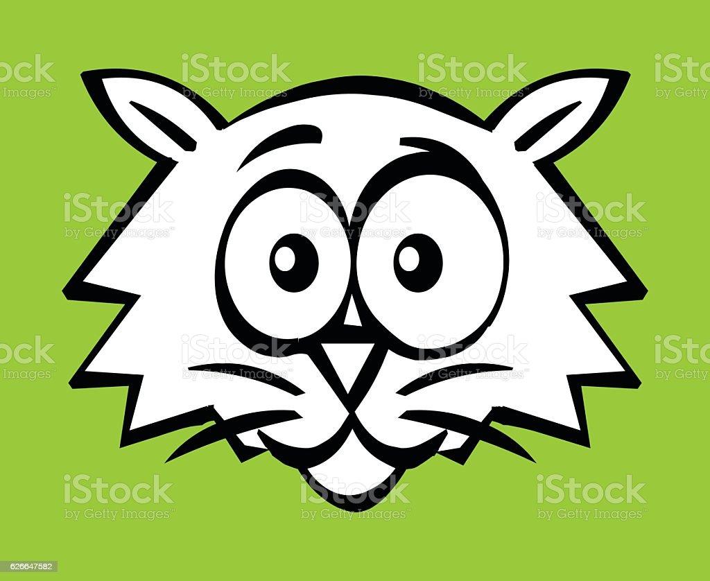 Cat's face vector art illustration