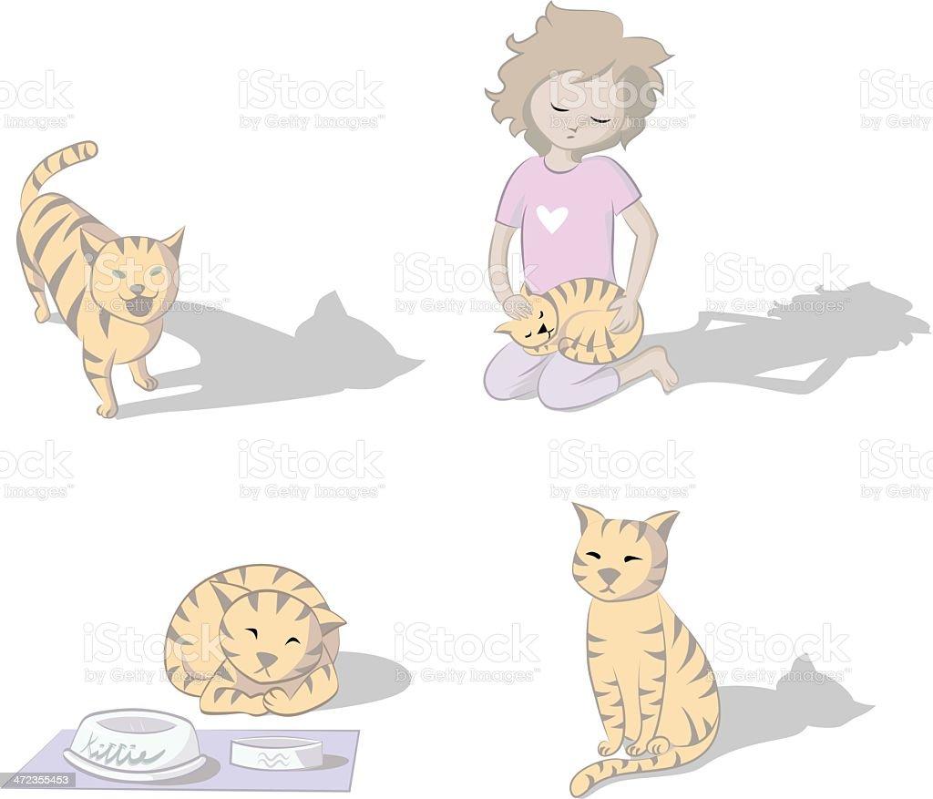 Cats Life royalty-free stock vector art