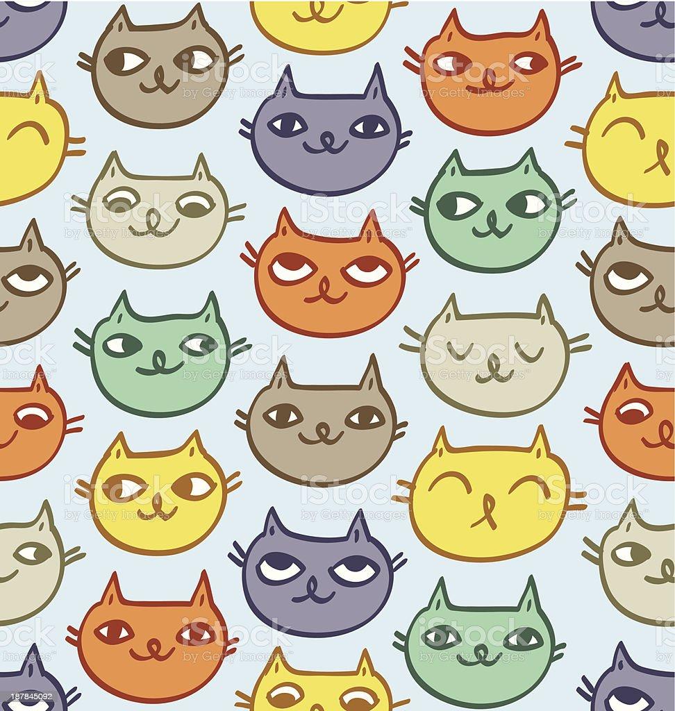 Cats pattern royalty-free stock vector art