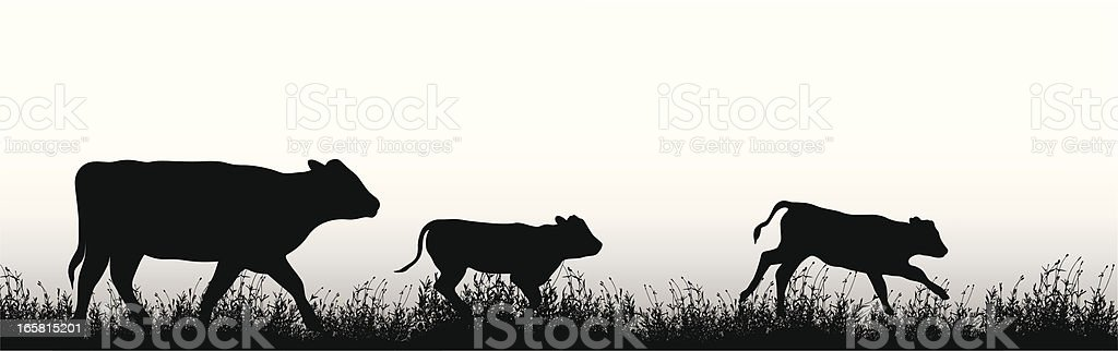 Cattle Vector Silhouette royalty-free stock vector art