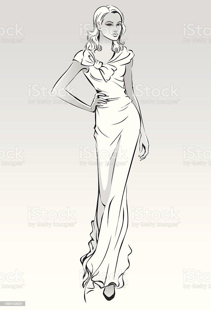 Catwalk vector art illustration