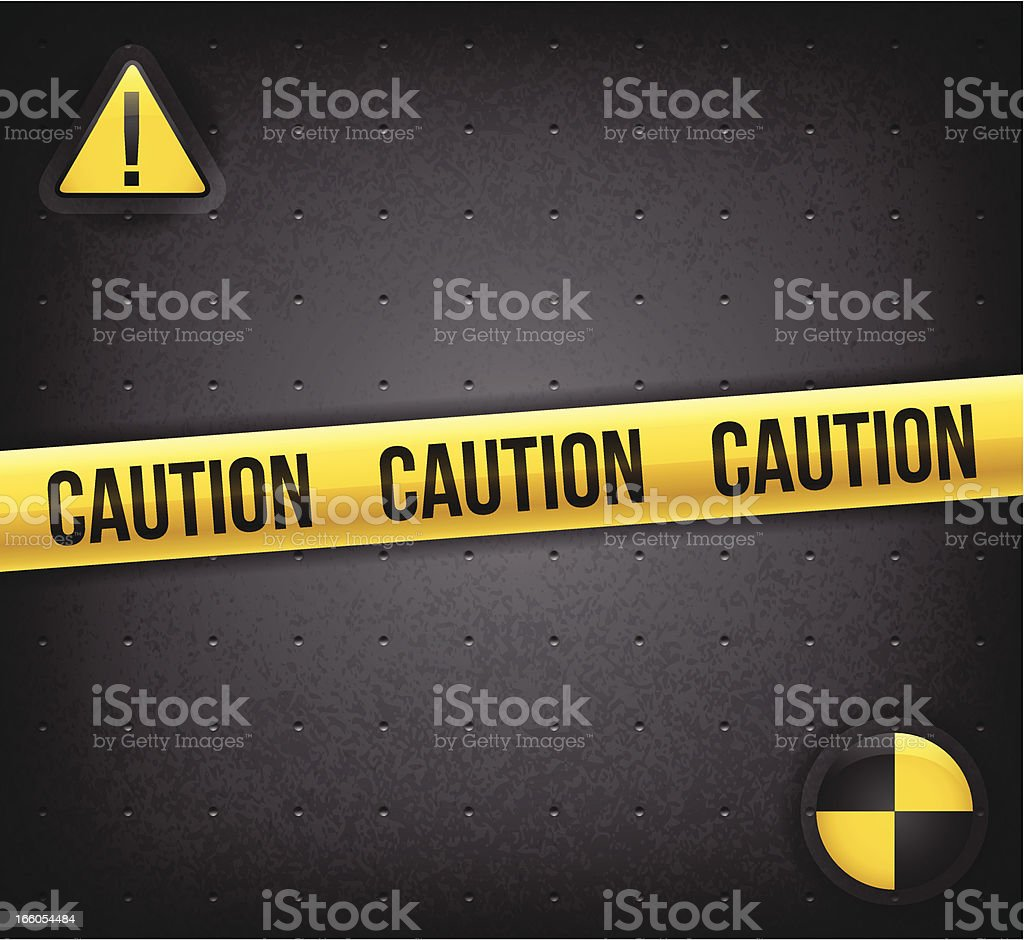 Caution Background vector art illustration