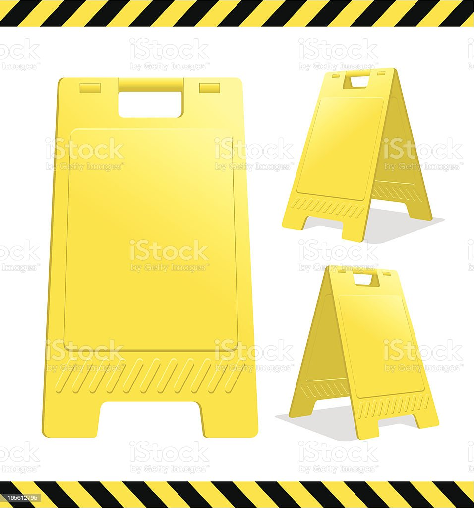 Caution / Danger / Warning sign vector art illustration