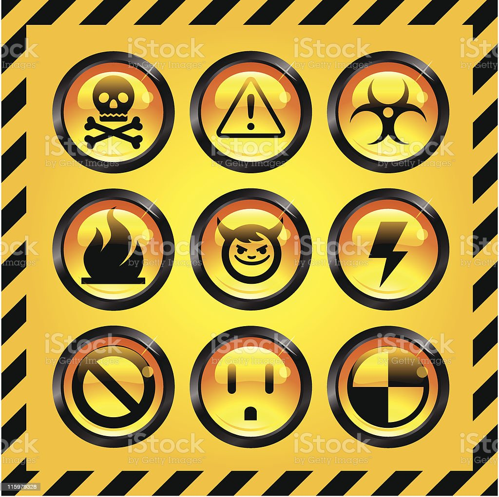 Caution Icons royalty-free stock vector art