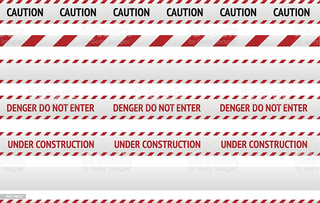 Caution line and danger tapes royalty-free stock vector art