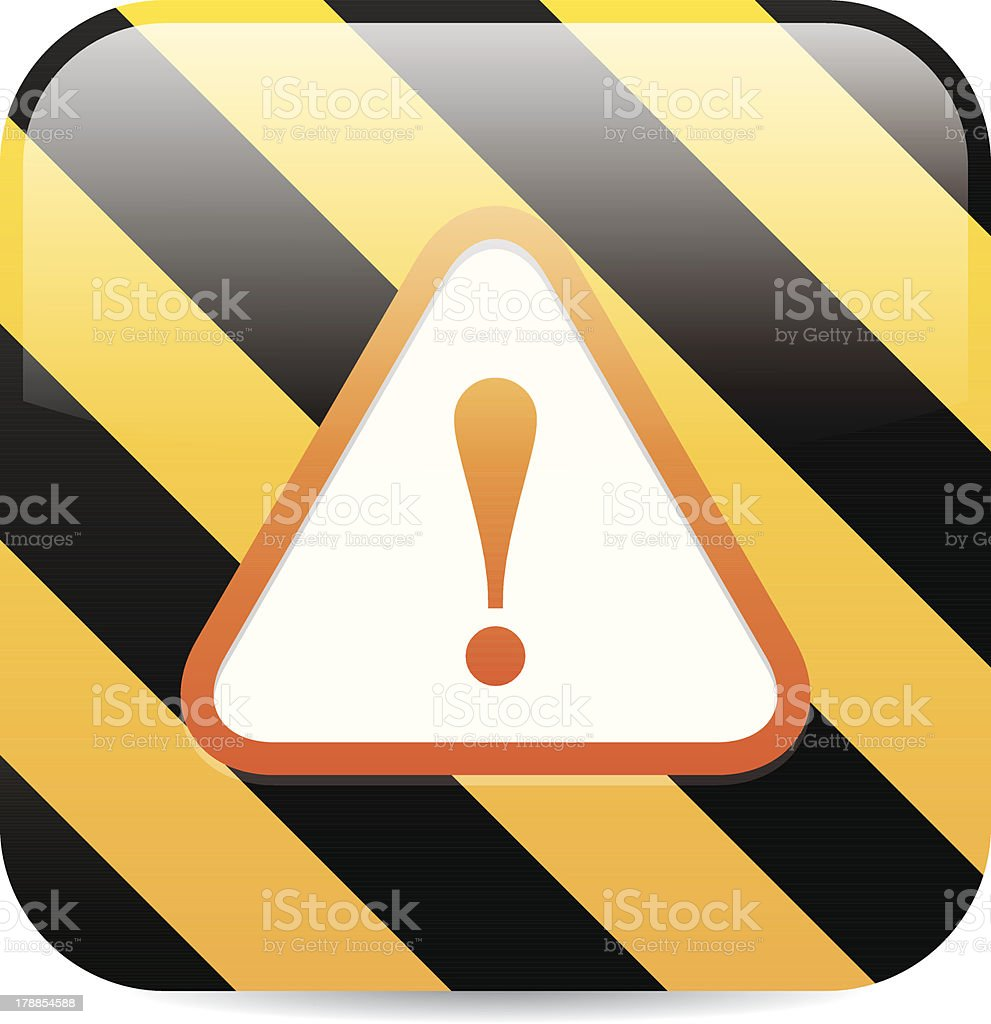Caution Sign Icon royalty-free stock vector art