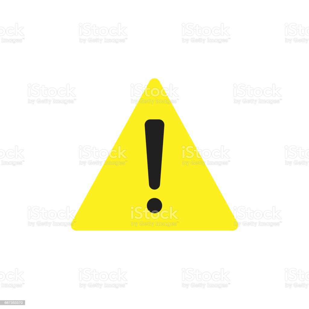 caution sign isolated vector vector art illustration