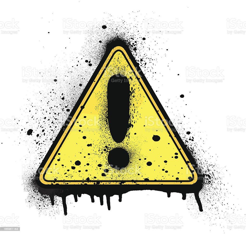 Caution Sign | Paint Splatter royalty-free stock vector art