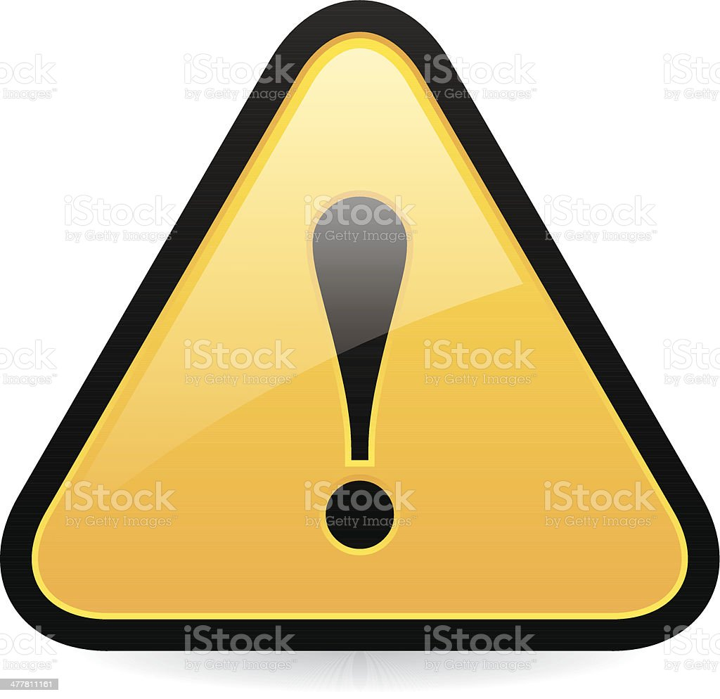 Caution Sign royalty-free stock vector art