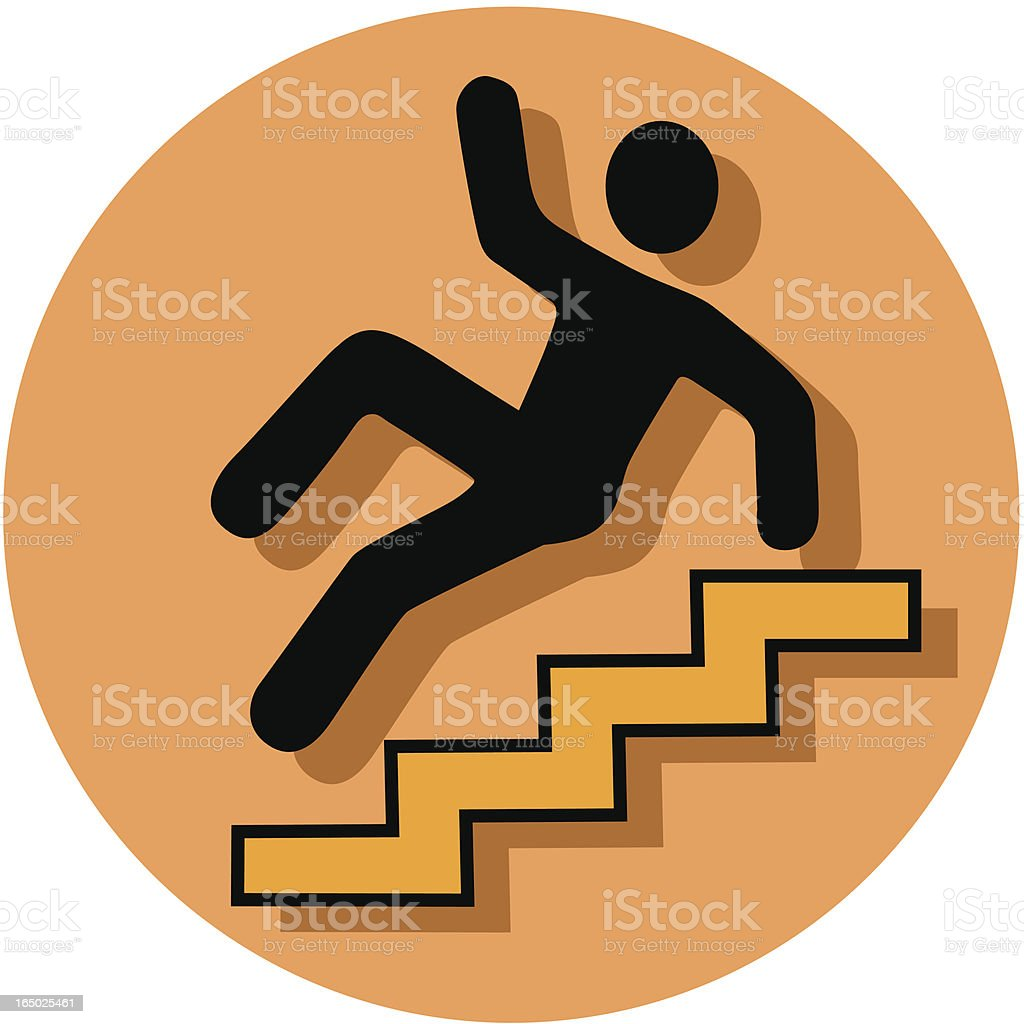 caution stairs icon royalty-free stock vector art