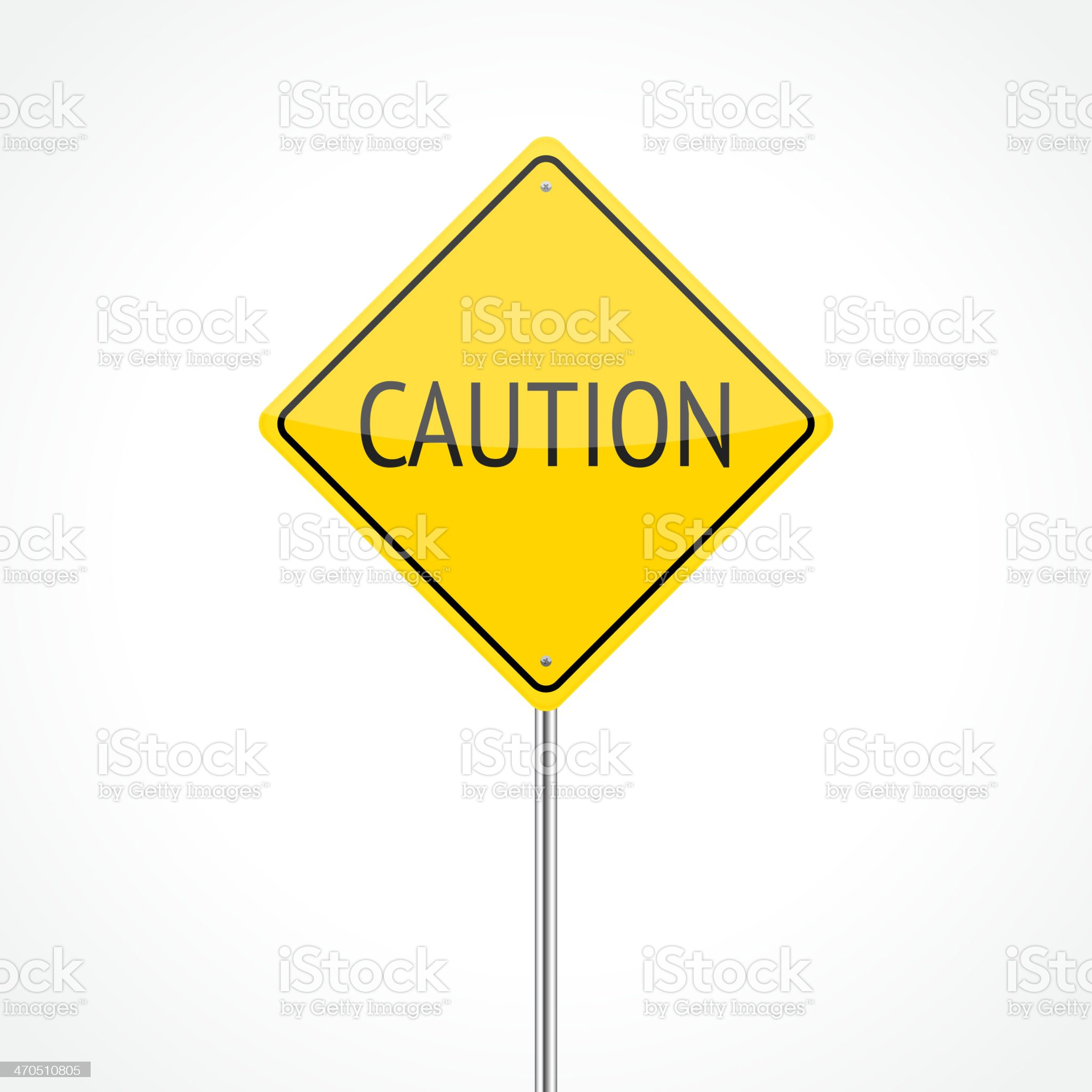 Caution traffic sign royalty-free stock vector art