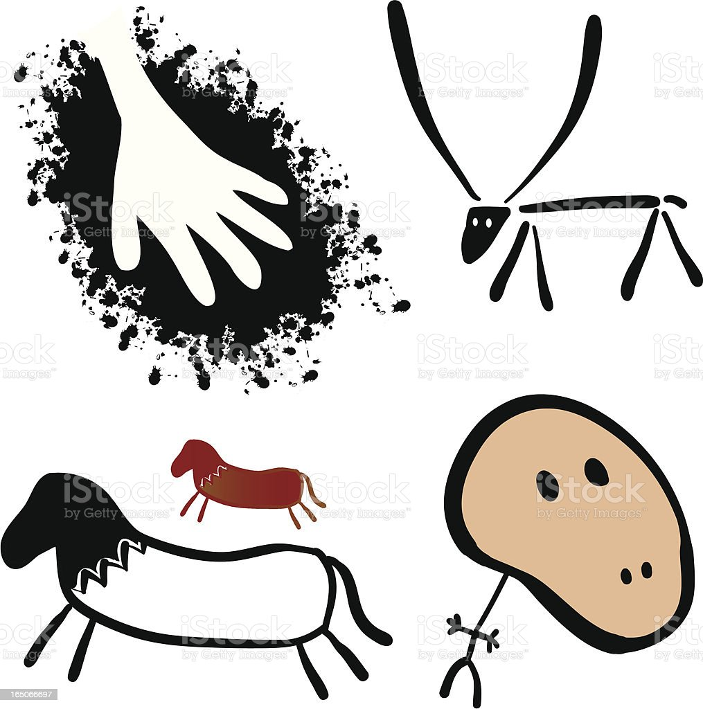 Cave Art royalty-free stock vector art