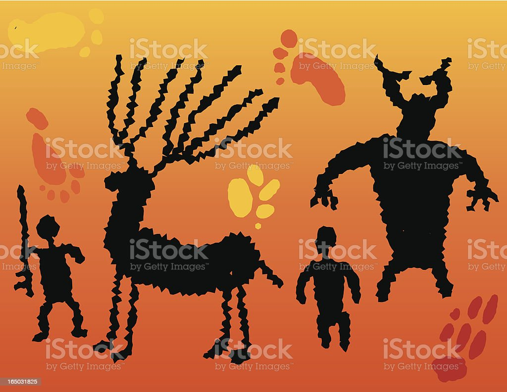 cave paintings royalty-free stock vector art