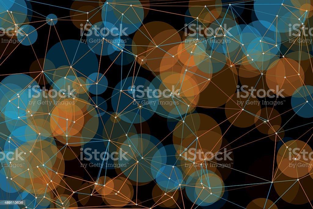 Cave Polygon Circle Pattern vector art illustration