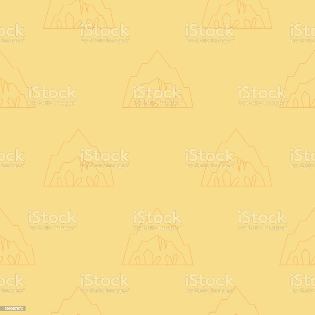 Cave seamless pattern vector art illustration