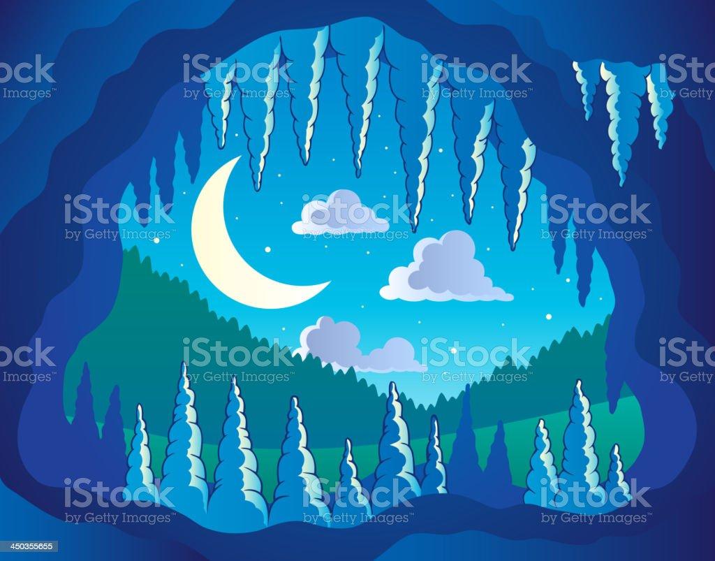 Cave theme image 3 vector art illustration