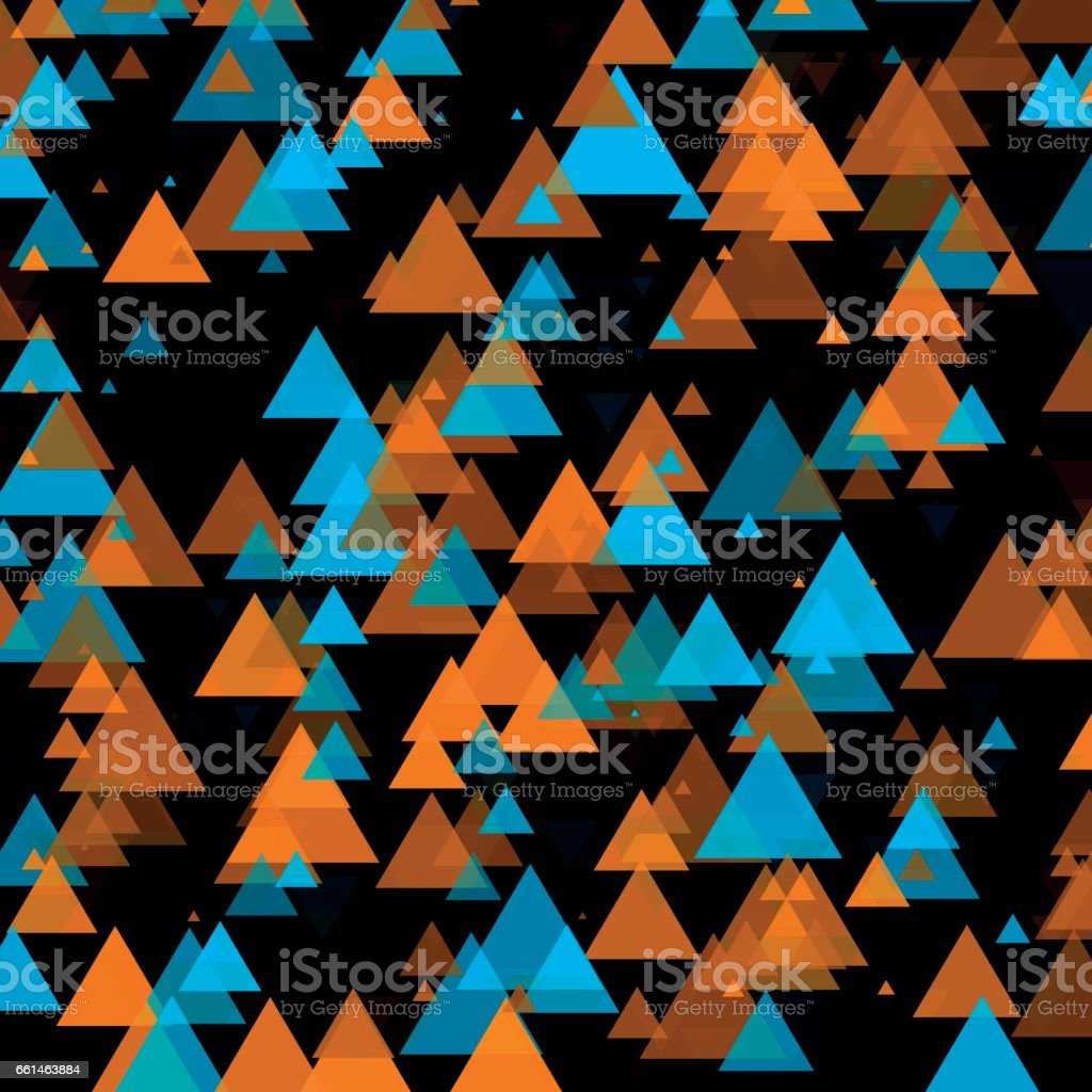 Cave Triangle Geometric Graphic Pattern vector art illustration
