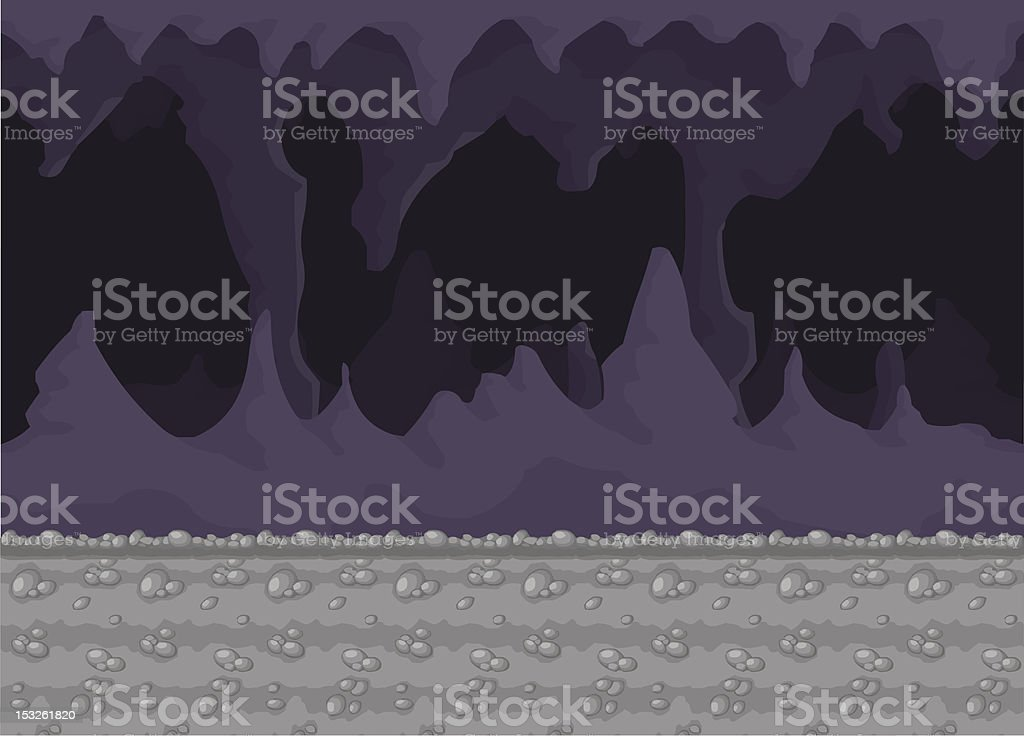 Cave vector art illustration
